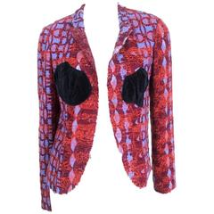 Comme des Garcons 2003 Collection Wool Embroidered Net Jacket