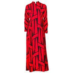 Geoffey Beene Graphic Print Maxi Dress