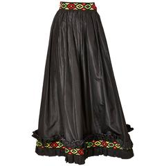 Yves Saint Ethnic Inspired Tafffeta Skirt