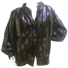 Avant Garde Italian Snakeskin Jacket from Neiman Marcus Size 44