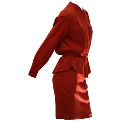 Fine 1990s Thierry Mugler Elegant and Edgy Skirt Suit