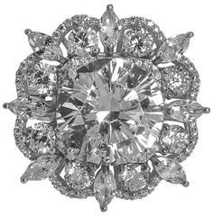 15 Carat Size Faux Round Diamond Cocktail Ring