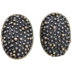 Anne Pratt 18k & Sterling Earrings