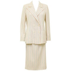1980's Scherrer Pin Stripe Wool Suit