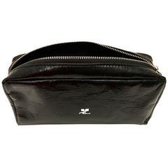 Courreges Bag - Black - Patent Leather - Makeup / Accessory - New
