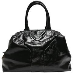 Yves Saint Laurent Easy Y Patent Medium Black Satchel