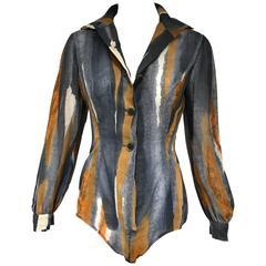 70s Pauline Triegere cotton body suit
