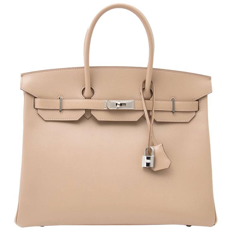 Brand new Hermès Birkin 35 Guilloche Tadelakt Argile For Sale