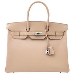 Brand new Hermès Birkin 35 Guilloche Tadelakt Argile