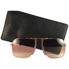 New Vintage Bogner By Eschenbach 7012 14 Silver Gold Roger Moore 007 Sunglasses