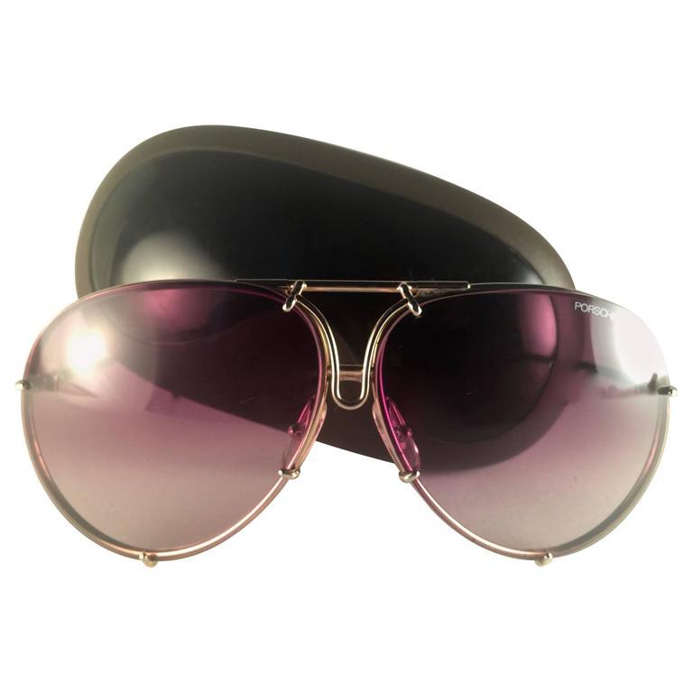 22fd5d78047 New Vintage Porsche Design By Carrera 5623 Gold Large Sunglasses Austria at  1stdibs