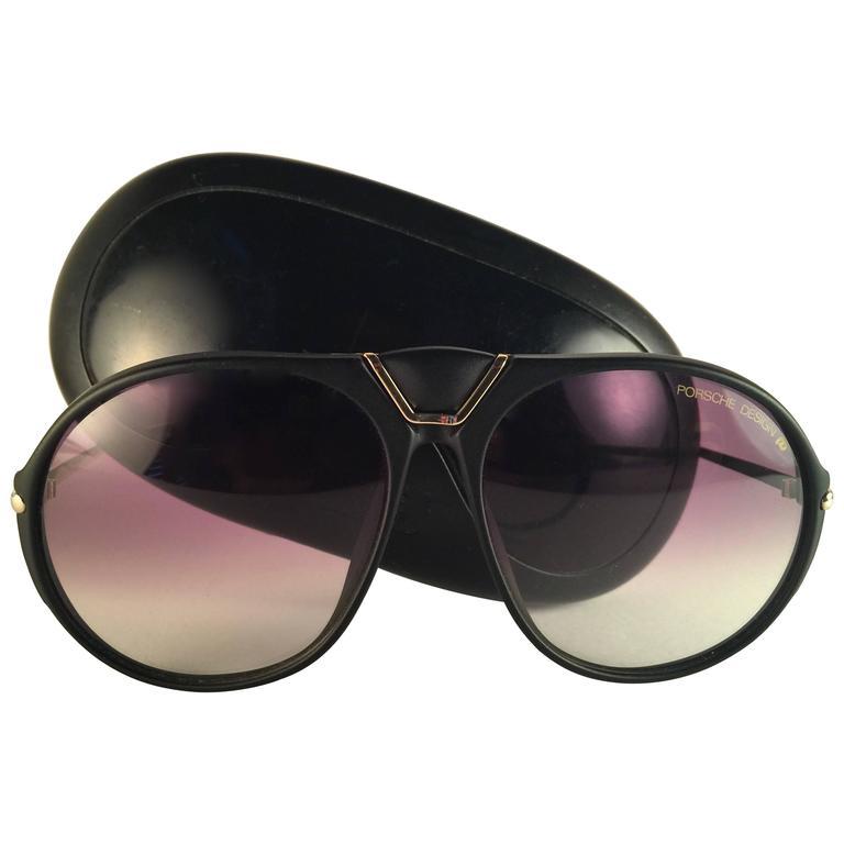 296c1e1cb337 New Vintage Porsche Design By Carrera 5659 Black Gold Large Sunglasses  Austria For Sale