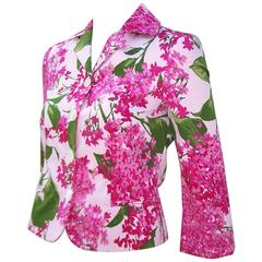 Garden Bouquet 1990's Moschino Cotton Floral Print Jacket