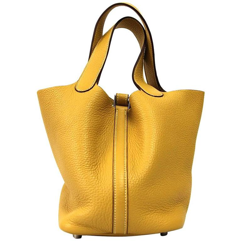 2007 Hermès Yellow Leather Picotin Bag