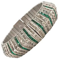 Art Deco wide paste bracelet, D.R.G.M, 1930s