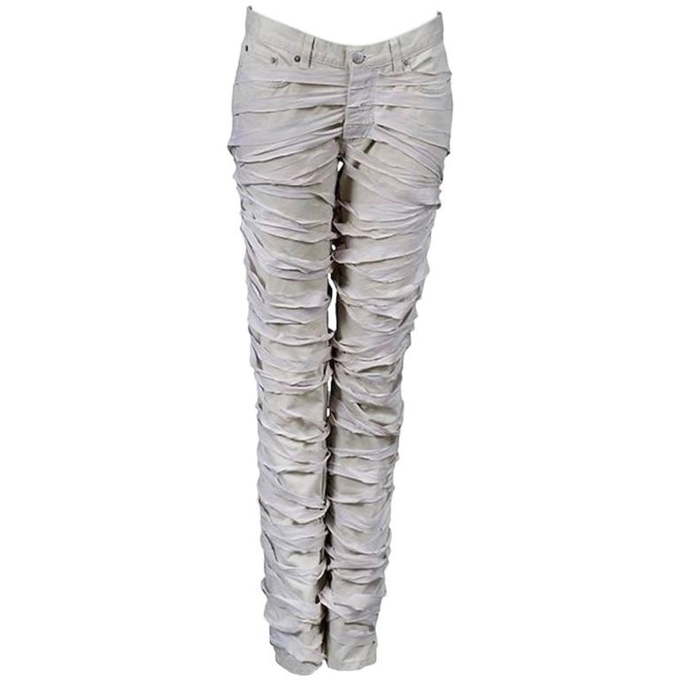Helmut Lang Off White Mummy Jeans 2004