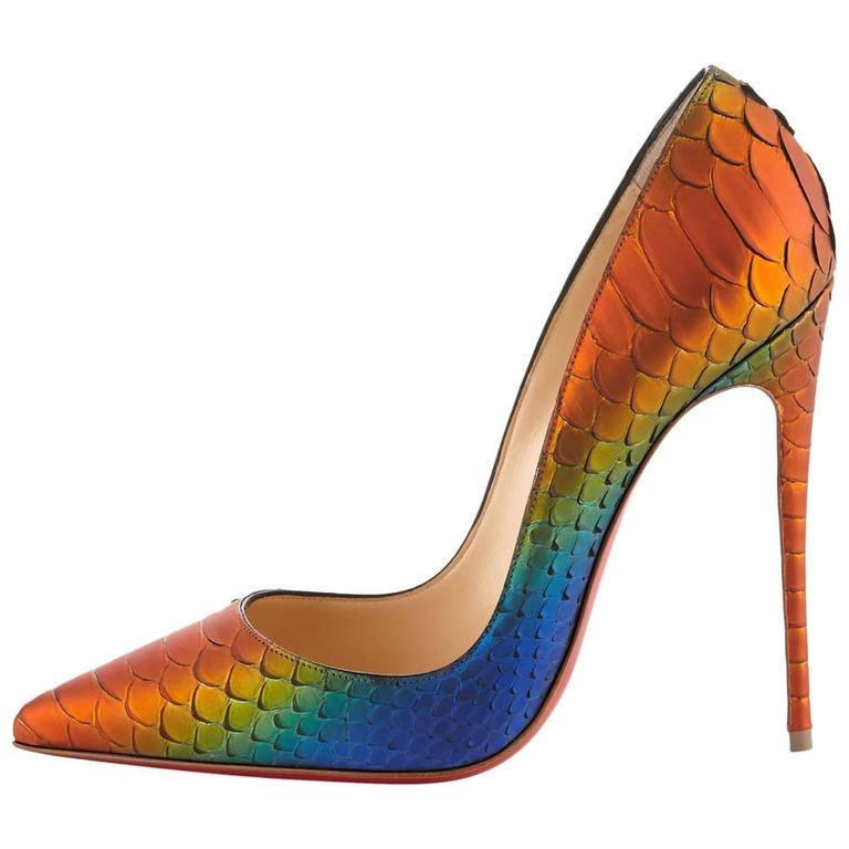 fa4e1b2c5c7 Christian Louboutin New & Sold Out Python So Kate Heels Pumps in Box