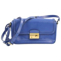 Prada Sound Shoulder Bag Vernice Saffiano Leather Small