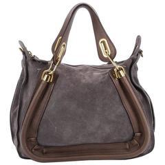 Chloe Paraty Top Handle Bag Suede Medium