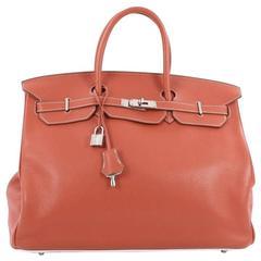 Hermes Eclat Birkin Handbag Clemence with Palladium Hardware 40