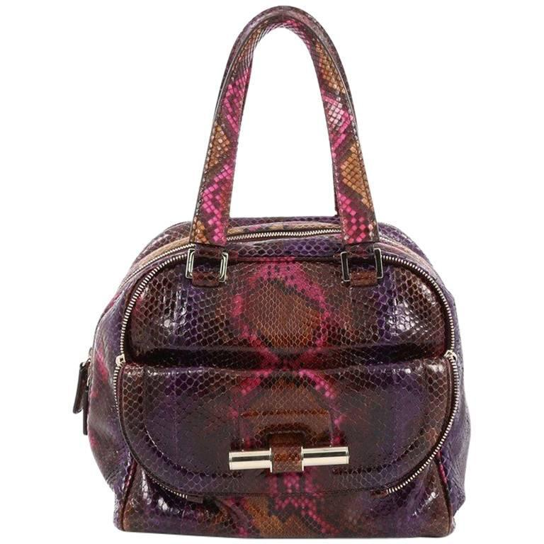 Jimmy Choo Justine Tote Python Small For Sale