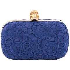 Alexander McQueen Skull Box Clutch Floral Lace Small