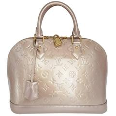 Louis Vuitton Alma PM In Beige Vernis And Gold Hardware