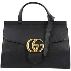 Gucci Marmont Top Handle Bag Leather Small