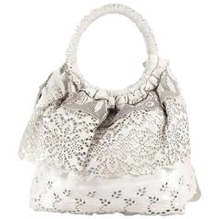 Valentino Laceland Handbag Laser Cut Leather