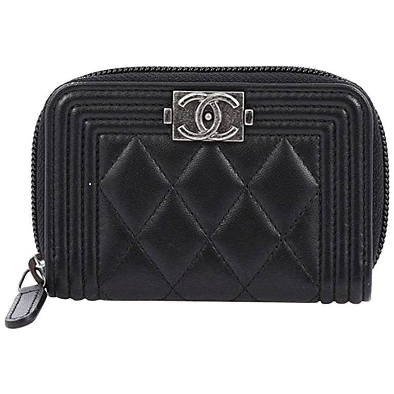 532e9c5e80ae Chanel Boy Coin Purse Quilted Lambskin Small at 1stdibs