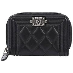 Chanel Boy Coin Purse Quilted Lambskin Small