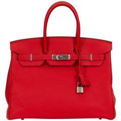 Hermès 35cm geranium Togo Birkin Bag