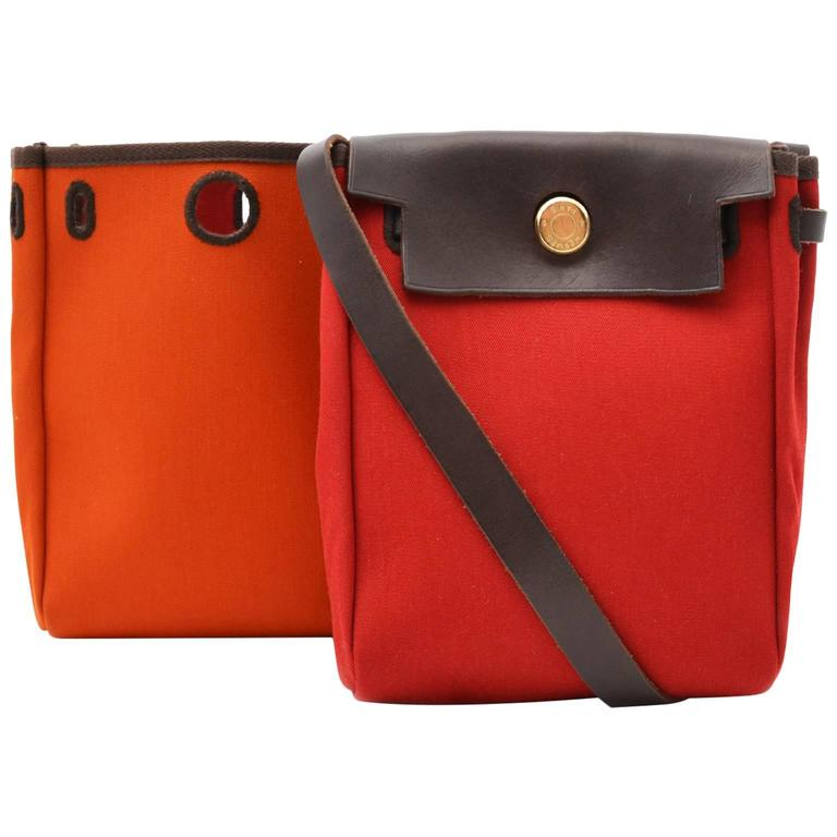 Hermès Orange & Red Mini Herbag 1