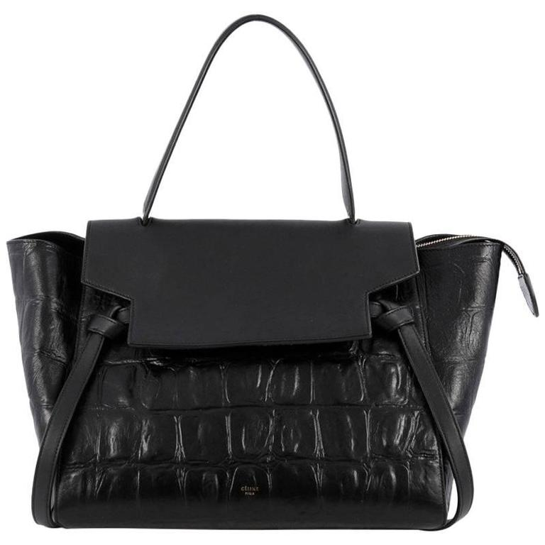 54d44a7137d Celine Belt Bag Crocodile Embossed Leather Medium at 1stdibs