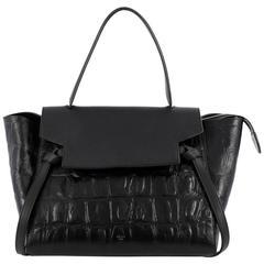 Celine Belt Bag Crocodile Embossed Leather Medium