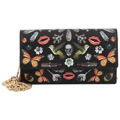 Alexander McQueen Chain Crossbody Bag Printed Leather Small