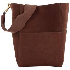Celine Sangle Seau Handbag Suede Large