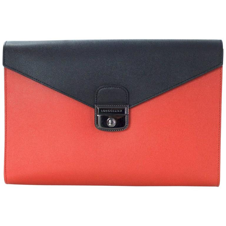 Longchamp Bag Le Pliage Colours : Longchamp le pliage hertiage tri color clutch bag for sale