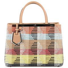 Fendi 2Jours Handbag Woven Raffia Petite