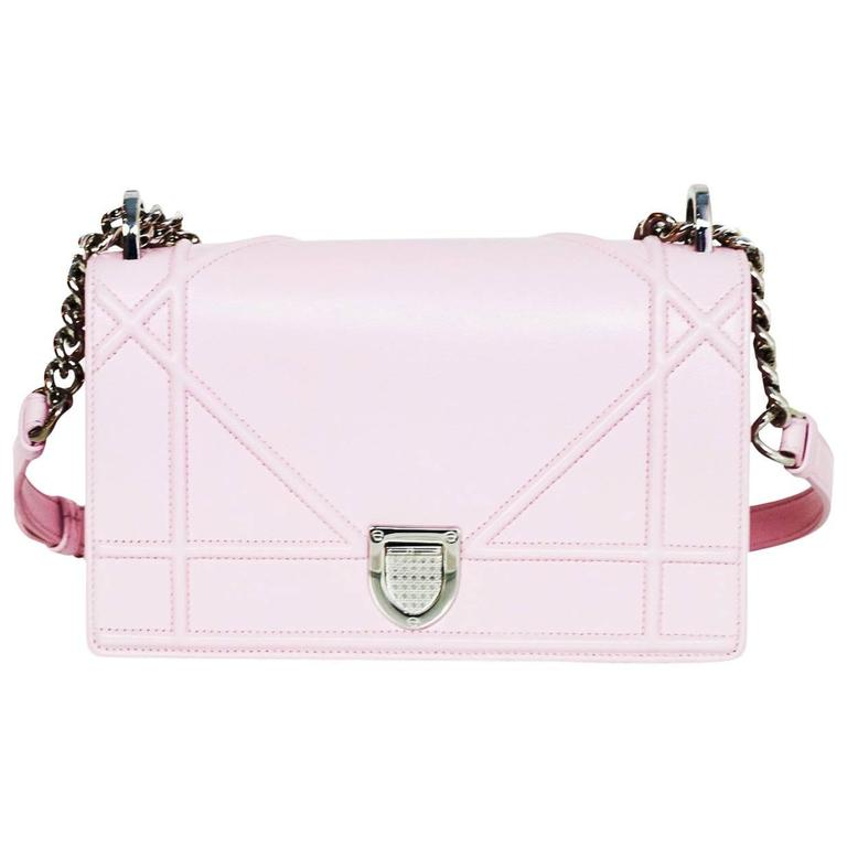 039e0f71722f Christian Dior Pink Leather Small Diorama Flap Bag For Sale at 1stdibs