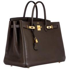 Hermes Birkin Bag Vert Bronze 40 Special color Gold Hardware
