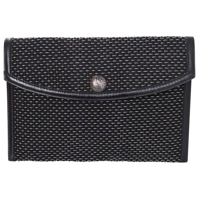 1stdibs Black And White Rectangular Box Purse ZGvYMB