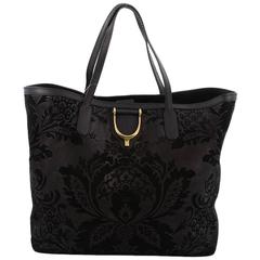Gucci Stirrup Tote Brocade Leather