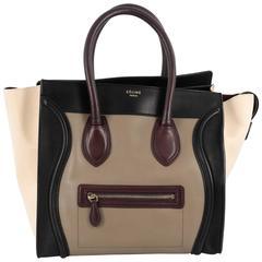 Celine Multicolor Luggage Handbag Leather Mini