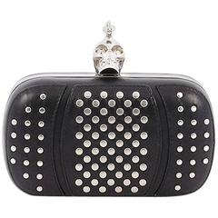 Alexander McQueen Skull Box Clutch Studded Leather Small