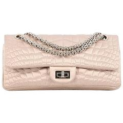 Chanel Reissue 2.55 Handbag Crocodile Quilted Satin 225