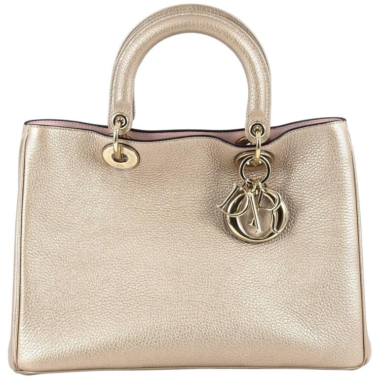 07929352363 Christian Dior Diorissimo Tote Pebbled Leather Medium at 1stdibs