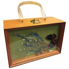 1960's Butterfly Shadow Box Novelty Purse