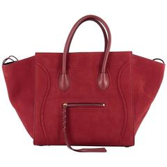 Celine Phantom Handbag Nubuck Medium