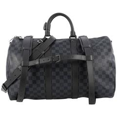 Louis Vuitton Keepall A Dos Bag Damier Cobalt